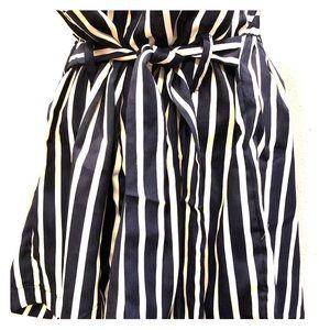 Navy and White stripe shorts